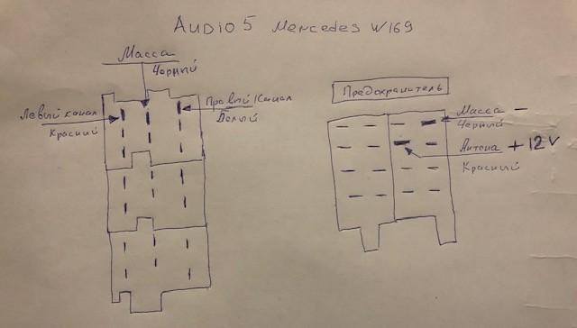 Схема подключения Bluetooth к магнитоле Mercedes W169