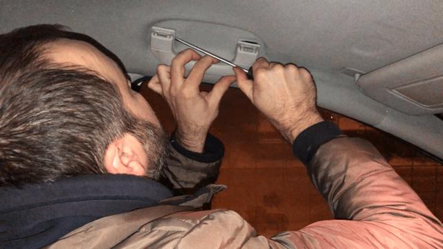 Снимаю ручку пассажира Мерседес W169